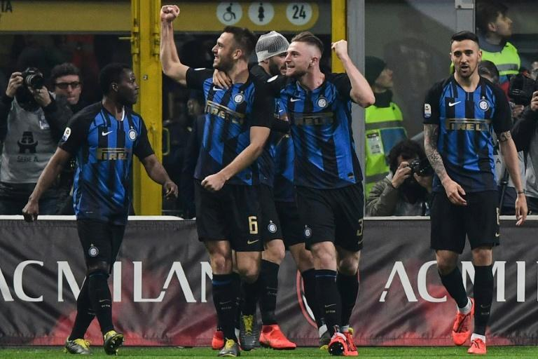 Inter Milan rebounded from their Europa League defeat by Eintrach Frankfurt to take the spoils against city rivals AC Milan