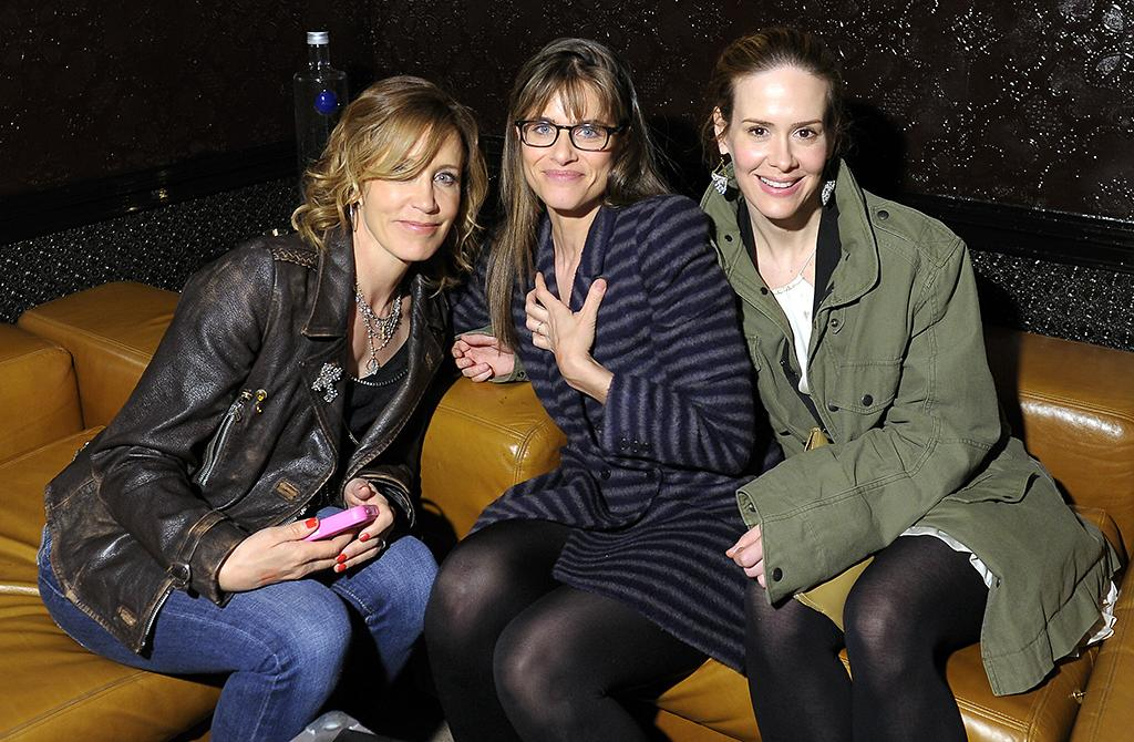 "NEW YORK, NY - APRIL 20:  (L-R) Felicity Huffman, Amanda Peet, and Sarah Paulson attend the Tribeca Film Festival 2013 after party for ""Trust Me"" sponsored by Ciroc on April 20, 2013 in New York City.  (Photo by Michael Loccisano/Getty Images for 2013 Tribeca Film Festival)"