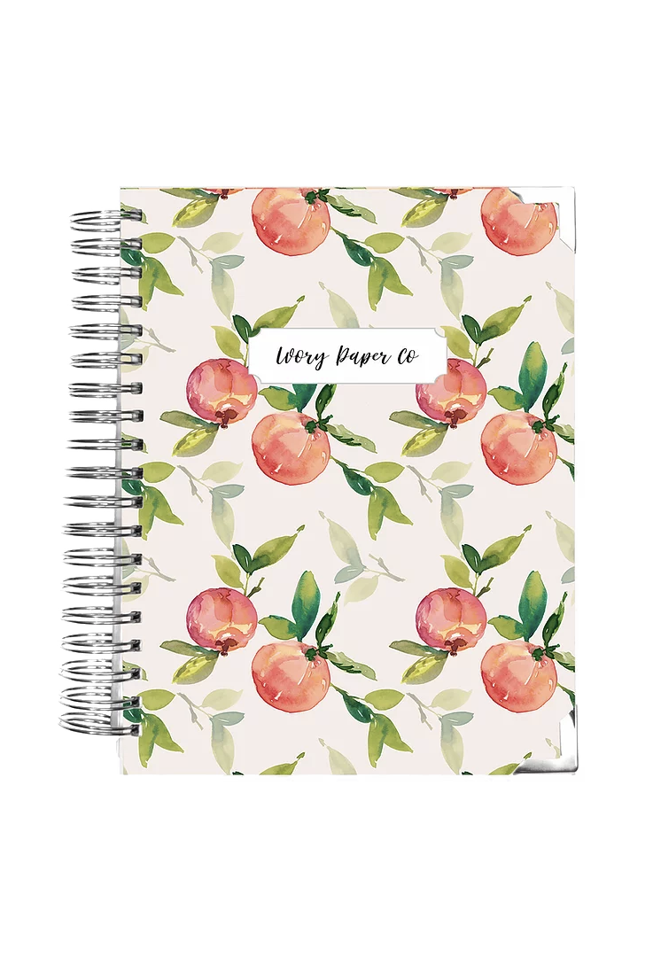 """<p><strong>Ivory Paper Co.</strong></p><p><strong>$46.55</strong></p><p><a href=""""https://www.ivorypaperco.com/product-page/natural-peach-ivory-paper-planner-daily-weekly-amp-monthly"""" rel=""""nofollow noopener"""" target=""""_blank"""" data-ylk=""""slk:SHOP IT"""" class=""""link rapid-noclick-resp"""">SHOP IT</a></p><p>Ohio-based Ivory Paper Co.'s all-in-one daily, weekly, and monthly planner is a Type-A's dream, allowing shoppers to customize the start date, length, and name on the front cover. </p>"""