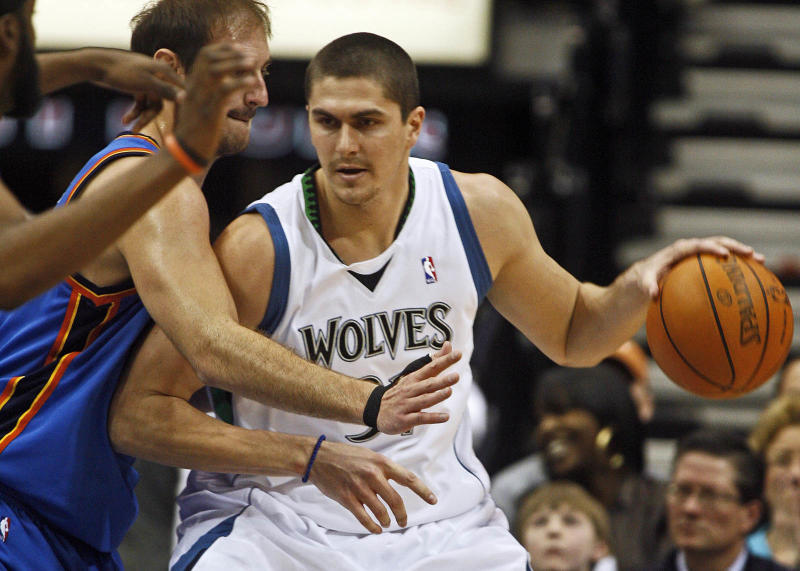 MARLIN LEVISON * mlevison@startribune.com Assign. #20011090F - February 21, 2010 - GENERAL INFORMATION: Timberwolves vs. OKLAHOMA CITY THUNDER. IN THIS PHOTO: ] Darko Milicic made his Wolves debut scoring eight points. (Photo by Marlin Levison/Star Tribune via Getty Images)