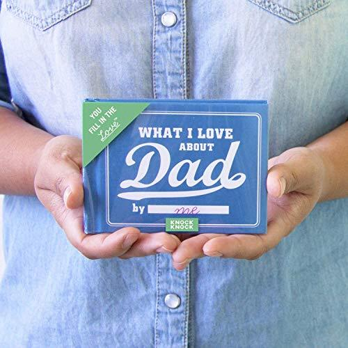 Knock Knock What I Love about Dad Fill in the Love Book Fill-in-the-Blank Gift Journal (Amazon / Amazon)