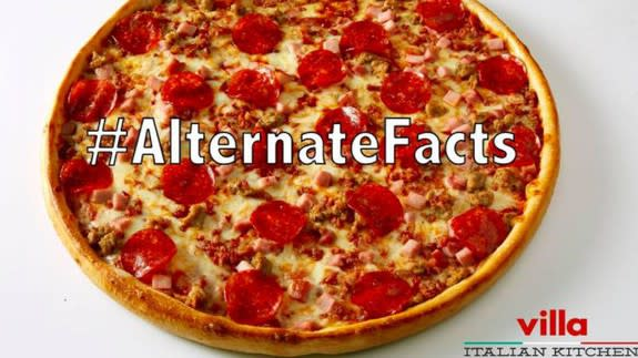 Pizza Chain Offers An Alternate Facts Meaty Pizza With No