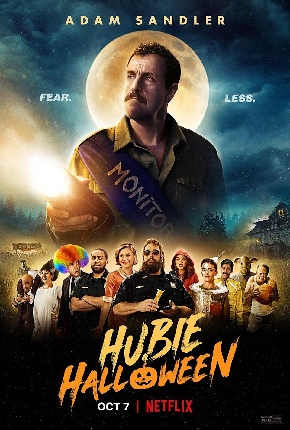 "<p>This Halloween horror-comedy finds Adam Sandler in classic Sandler mode, doing a strange accent in a small town full of locals. He plays a resident of Salem who, after a series of strange occurrences, has to convince the town that monsters are real. This debuts on Netflix on October 7, 2020.</p><p><a class=""link rapid-noclick-resp"" href=""https://www.netflix.com/title/80245104"" rel=""nofollow noopener"" target=""_blank"" data-ylk=""slk:WATCH NOW"">WATCH NOW</a></p>"