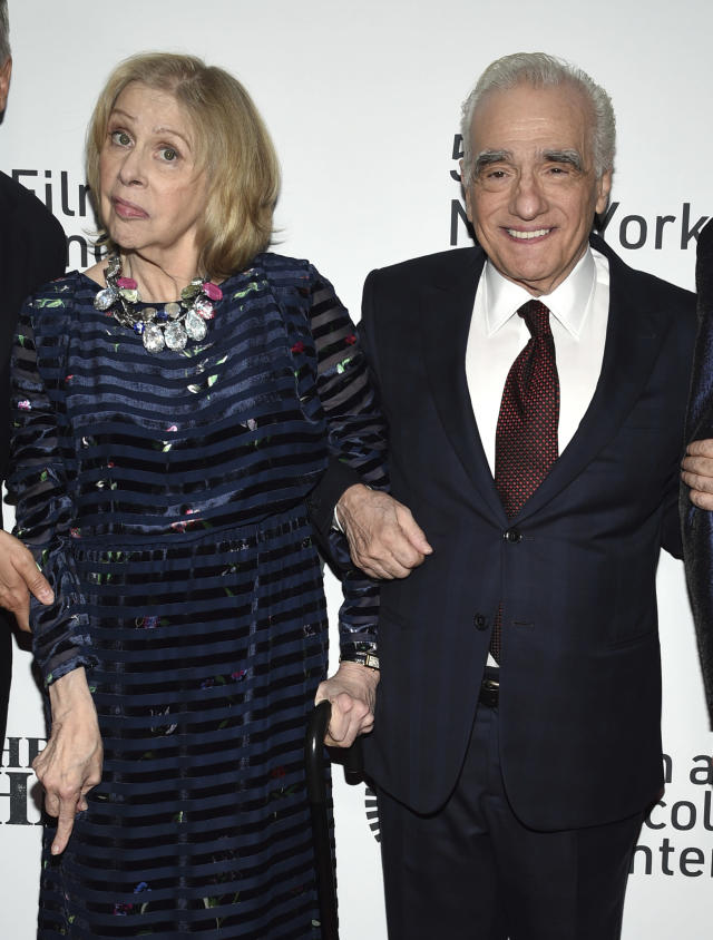 """Director/producer Martin Scorsese, right, and his wife Helen Morris attend the world premiere of """"The Irishman"""" at Alice Tully Hall during the opening night of the 57th New York Film Festival on Friday, Sept. 27, 2019, in New York. (Photo by Evan Agostini/Invision/AP)"""