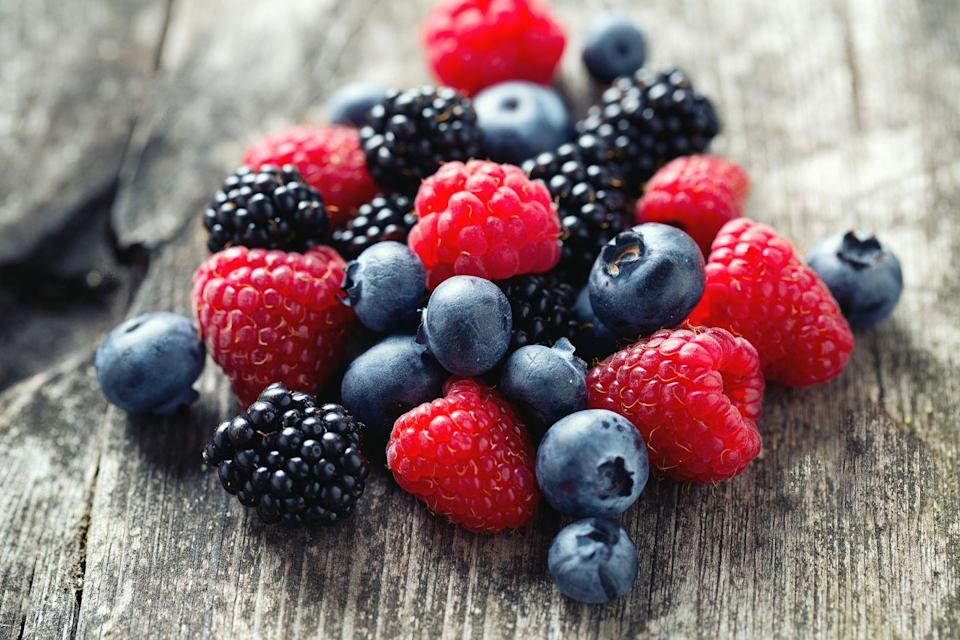 """<p>Raspberries, strawberries, blackberries, and blueberries contain antioxidants called polyphenols, which have been found to decrease inflammation throughout the body. Dixon recommends aiming to have three to five servings of berries each week. """"Frozen is as good as fresh and more budget-friendly for many people,"""" she says. </p>"""