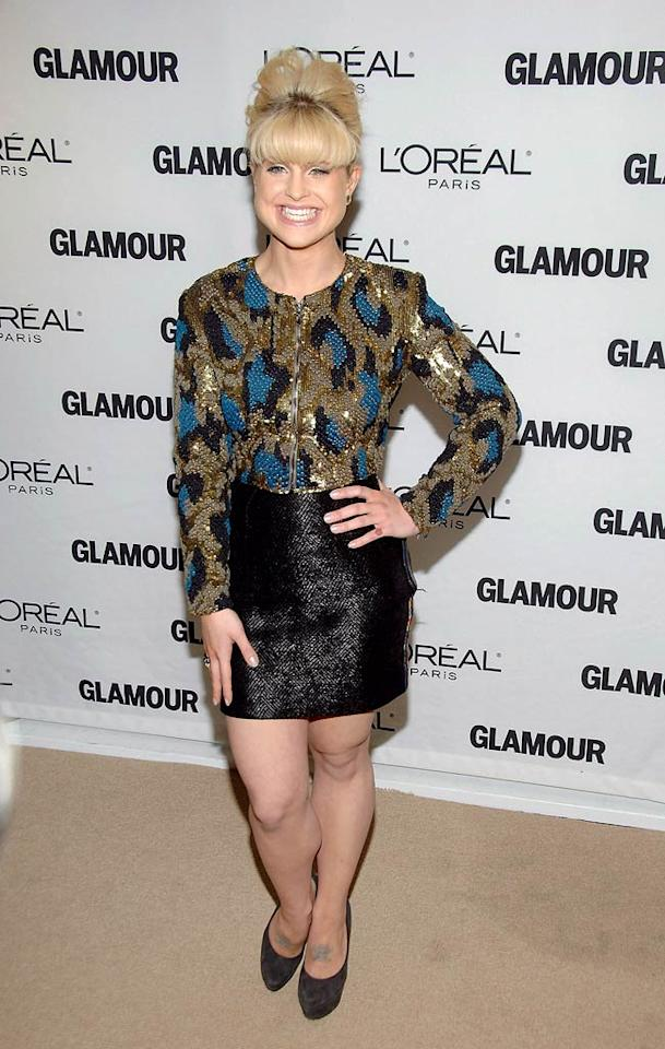 "Is it just us, or does Kelly Osbourne remind you of Ivana Trump with her thick blond bangs and Atlantic City-esque sequin snakeskin outfit? Ben Gabbe/<a href=""http://www.gettyimages.com/"" target=""new"">GettyImages.com</a> - November 8, 2010"
