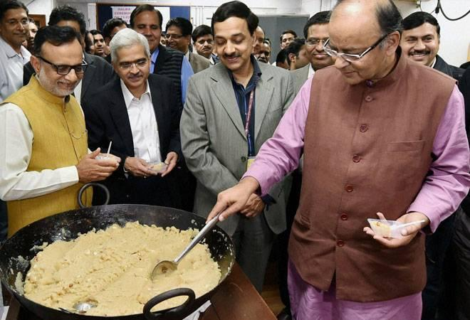 The whole exercise kicks off with a customary ritual where halwa, an  Indian dessert, is distributed among the Finance Ministry staff.