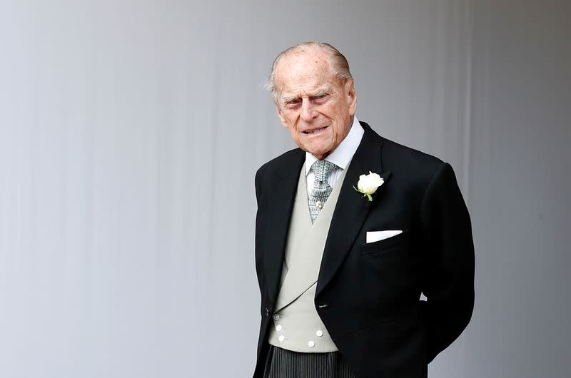 Prince Charles says Prince Philip, 98, is 'all right' in hospital