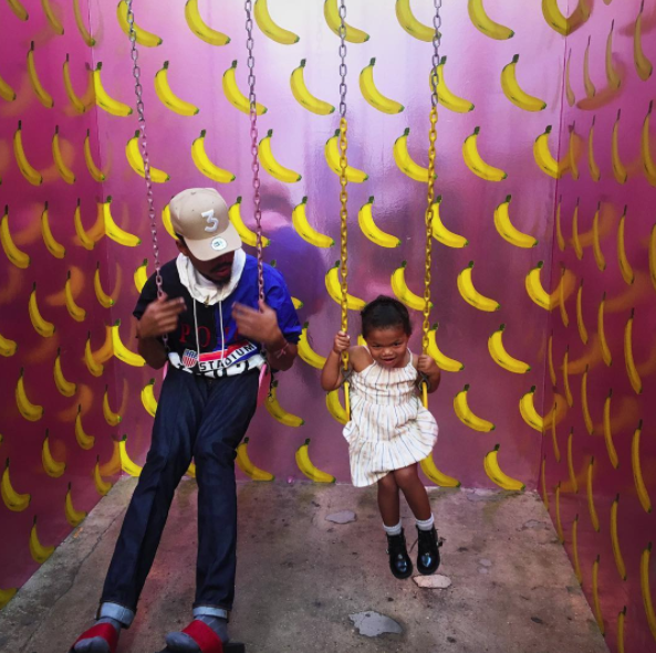 <p>The rapper brought his daughter, Kensli, to the Museum of Ice Cream and it was — wait for it —<br> bananas. (Photo: Chance the Rapper via Instagram) </p>