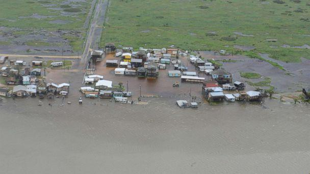 PHOTO: Housing surrounded by flood waters caused by Hurricane Harvey is seen from a U.S. Coast Guard helicopter during an overflight from Port Aransas to Port O'Connor, Texas, Aug. 26, 2017. (U.S. Coast Guard/Petty Officer 3rd Class Johanna Strickland/Reuters)