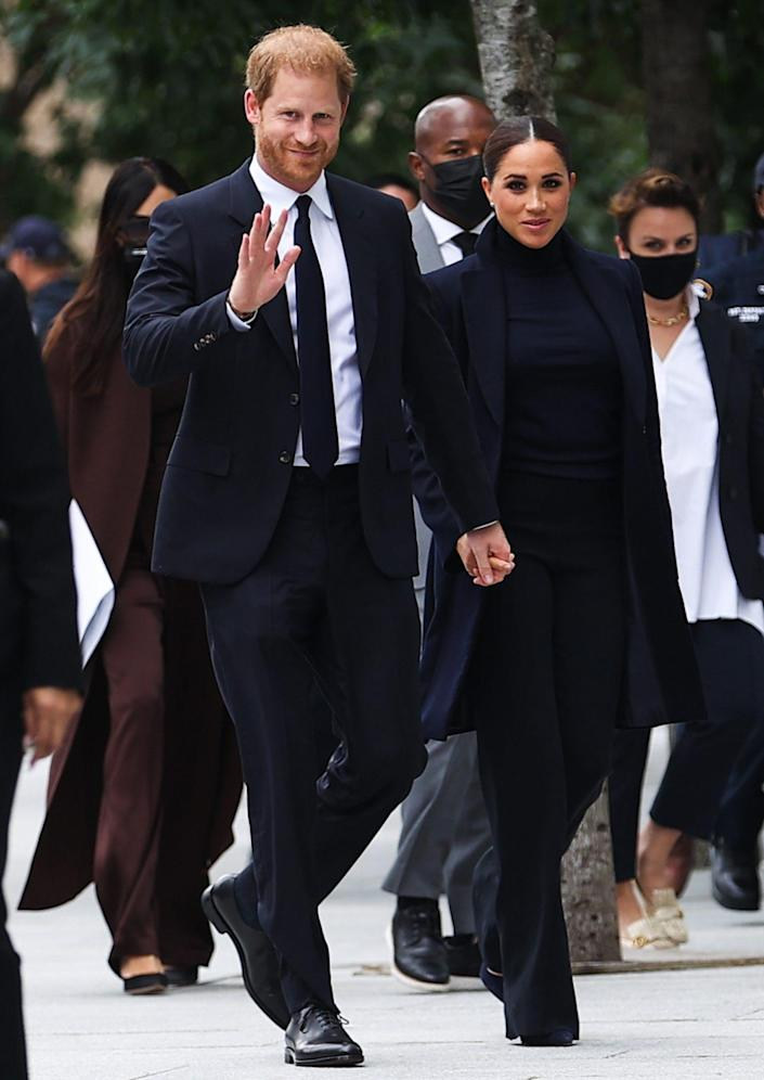 <p>Prince Harry and Meghan Markle kicked off their New York City visit on Thursday with an early morning to the World Trade Center.</p>