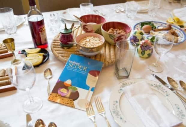 Traditional food for Passover was sent to Saksatoon from across Canada. Here a Seder dinner is shown from 2018.