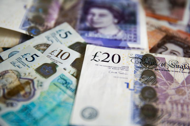 British Pound currency bank notes