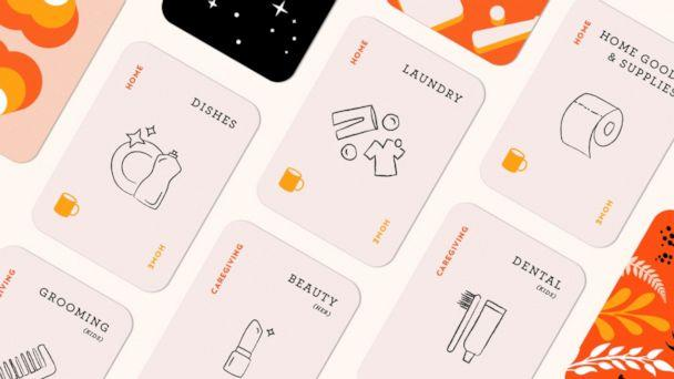 PHOTO: Eve Rodsky, author of the book 'Fair Play,' created a simple game that divides household tasks. All you do is shuffle the cards and play the hand that's been dealt to you. (Fair Play/Eve Rodsky)