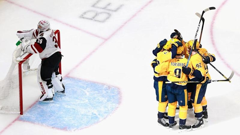 Predators tie series with Coyotes, take advantage of tough Game 2 for Kuemper