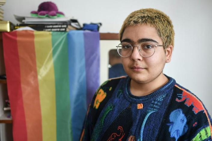 Alaz Ada Yener, who chooses to identify as non-binary and is active in the LambdaIstanbul LGBT rights association, says walking the streets no longer feels safe