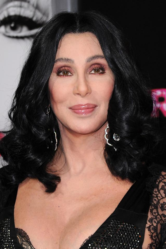 "<a href=""http://movies.yahoo.com/movie/contributor/1800023318"">Cher</a> at the Los Angeles premiere of <a href=""http://movies.yahoo.com/movie/1810125282/info"">Burlesque</a> on November 15, 2010."