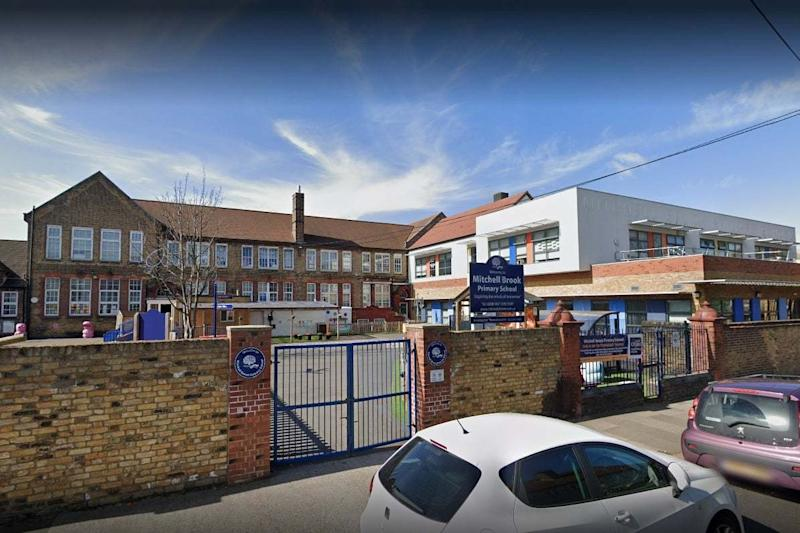 A file image of Mitchell Brook Primary School in Neasden: Google Street View