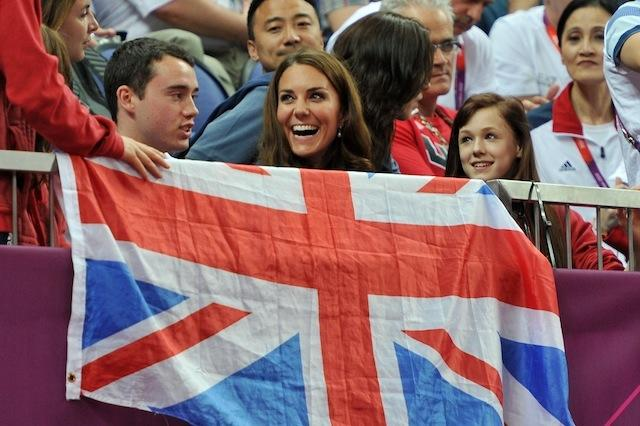 Kate Middleton Sat In Front Of An Upside Down Union Jack