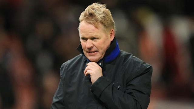 """Netherlands are looking for a new boss, with the KNVB acknowledging """"capable"""" candidate Ronald Koeman is under contract at Everton."""