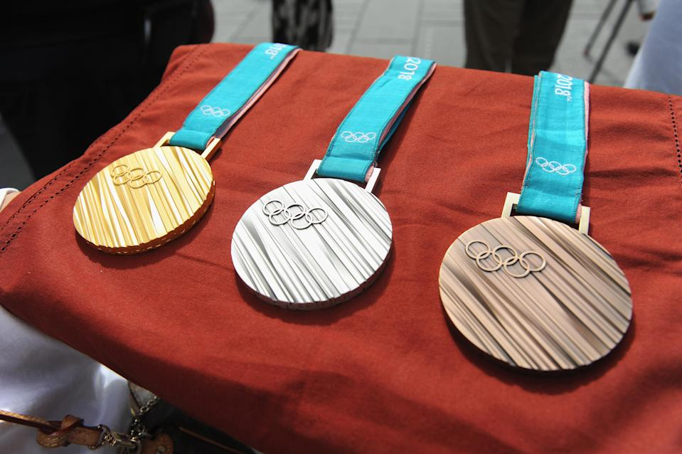 The PyeongChang 2018 Olympic medals are supposed to resemble the stripes of tree trunks.
