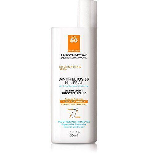 """<p><strong>La Roche-Posay</strong></p><p>amazon.com</p><p><strong>$33.50</strong></p><p><a href=""""https://www.amazon.com/dp/B004W55086?tag=syn-yahoo-20&ascsubtag=%5Bartid%7C2141.g.27632513%5Bsrc%7Cyahoo-us"""" rel=""""nofollow noopener"""" target=""""_blank"""" data-ylk=""""slk:SHOP NOW"""" class=""""link rapid-noclick-resp"""">SHOP NOW</a></p><p>This top-selling sunscreen for acne-prone skin is raved about for its ultra-lightweight formula. <strong>Fragrance- and chemical-free, noncomedogenic, and fast-absorbing, this liquid SPF is perfect for sensitive skin</strong>, says board-certified dermatologist <a href=""""https://medicine.yale.edu/people/search/mona_gohara-4.profile"""" rel=""""nofollow noopener"""" target=""""_blank"""" data-ylk=""""slk:Mona Gohara, M.D."""" class=""""link rapid-noclick-resp"""">Mona Gohara, M.D.</a>, associate clinical professor of dermatology at the Yale School of Medicine and member of <a href=""""https://www.prevention.com/about/g26577234/medical-review-board/"""" rel=""""nofollow noopener"""" target=""""_blank"""" data-ylk=""""slk:Prevention's Medical Review Board"""" class=""""link rapid-noclick-resp""""><em>Prevention</em>'s Medical Review Board</a>. """"It's light, cosmetically elegant, and easy to layer,"""" she says, adding that the addition of antioxidants is a major plus.</p>"""