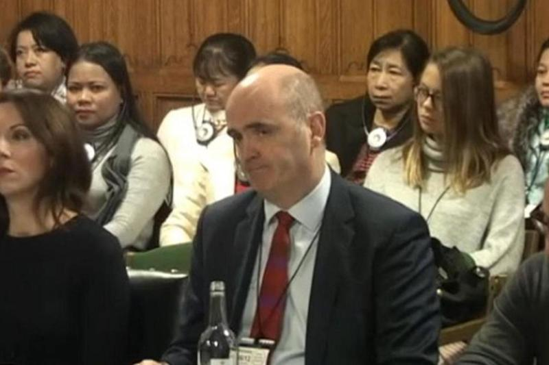 Assistant chief constable Mark Hamilton, chief of the NPCC, speaking to MPs on Wednesday. (Parliament TV)
