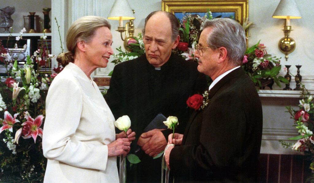 """McKean and O'Toole weren't the only off-screen duo to play an on-camera couple. William Daniels, who portrayed Mr. Feeny,<a href=""""http://www.imdb.com/name/nm0058783/bio""""> had been wed</a> to Bonnie Bartlett for almost 50 years before his character walked down the aisle with her TV persona Dean Lila Bolander. They had also played a married couple on the hospital drama """"<a href=""""http://tv.yahoo.com/photos/st-elsewhere-30th-anniversary-fun-facts-slideshow/"""">St. Elsewhere</a>"""" throughout the 1980s."""