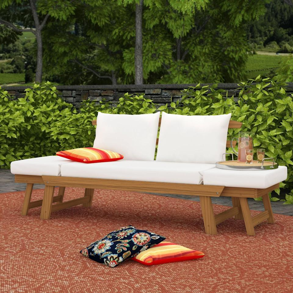 <p>You'll love chilling on this <span>Beal Patio Daybed With Cushions</span> ($630, originally $786).</p>