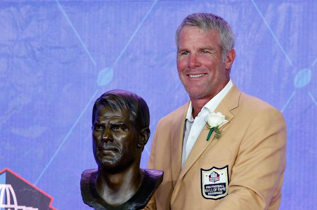 Brett Favre would be fine if his grandsons didn't follow in his football footsteps. (Getty)