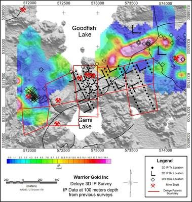 Figure 1. Goodfish Kirana Property and location of the Deloye Claims. (CNW Group/Warrior Gold Inc.)