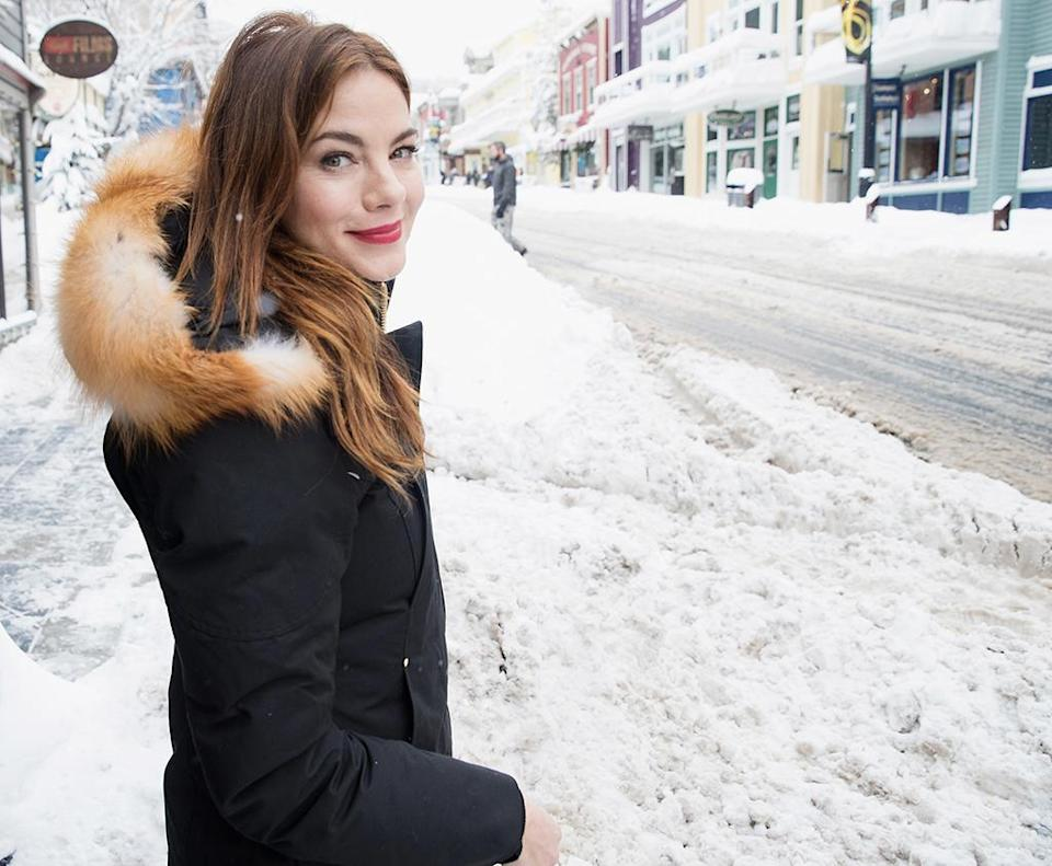 <p>In town to promote her new film, 'Sidney Hall,' Monaghan takes to the streets of Park City on Jan. 23. (Photo: Mat Hayward/GC Images) </p>