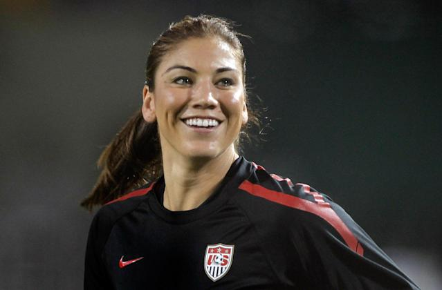 "<a class=""link rapid-noclick-resp"" href=""/olympics/rio-2016/a/1124386/"" data-ylk=""slk:Hope Solo"">Hope Solo</a> has not played for the U.S. women's national team since her contract was terminated last year. (Getty)"