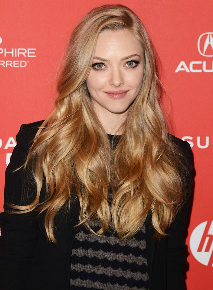 """PARK CITY, UT - JANUARY 22:  Actress Amanda Seyfried attends the """"Lovelace"""" premiere at Eccles Center Theatre during the 2013 Sundance Film Festival on January 22, 2013 in Park City, Utah.  (Photo by Jason Merritt/Getty Images)"""