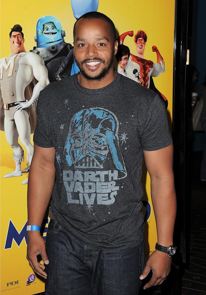"""<a href=""""http://movies.yahoo.com/movie/contributor/1800026496"""">Donald Faison</a> at the Los Angeles premiere of <a href=""""http://movies.yahoo.com/movie/1809998238/info"""">Megamind</a> on October 30, 2010."""
