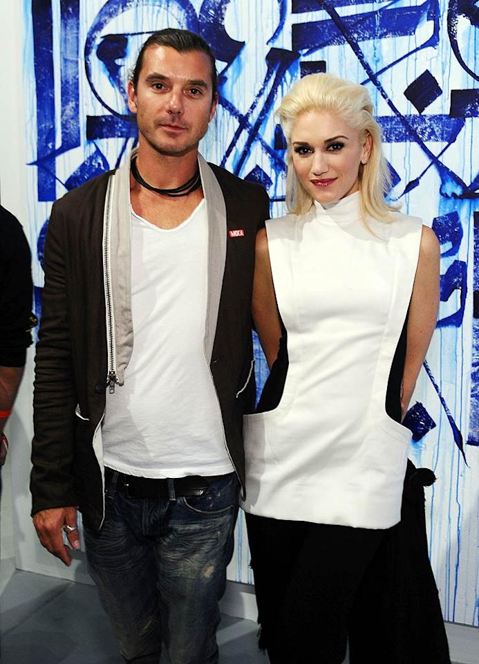 """Musical married couple Gavin Rossdale and Gwen Stefani looked perfectly poised at Thursday night's artists' opening gala for Art in the Streets, a retrospective of graffiti and street art at Los Angeles' Museum of Contemporary Art. Stefanie Keenan/<a href=""""http://www.wireimage.com"""" target=""""new"""">WireImage.com</a> - April 14, 2011"""