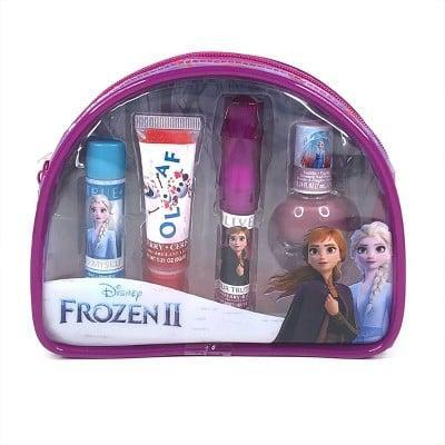 <p>This <span>Frozen Cosmetic Beauty Pouch Set</span> ($9) from Target comes with two lip balms, a lip gloss, and a water-based nail polish.</p>
