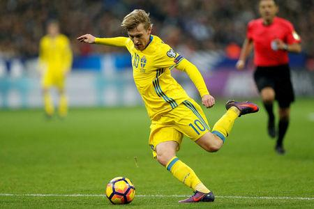 FILE PHOTO: Sweden's Emil Forsberg in action