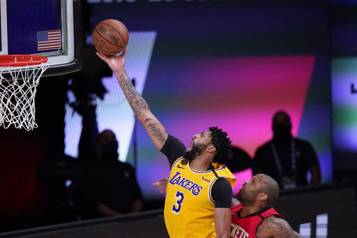 Davis, Lakers run past Rockets for 3-1 West semifinals lead