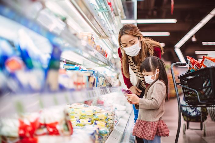 """""""While food prices inched up slightly compared to last year, they remain significantly below long-term averages, as grocers fiercely protect their market shares,"""" Helen Dickinson, CEO of the British Retail Consortium, said. Photo: Getty Images"""