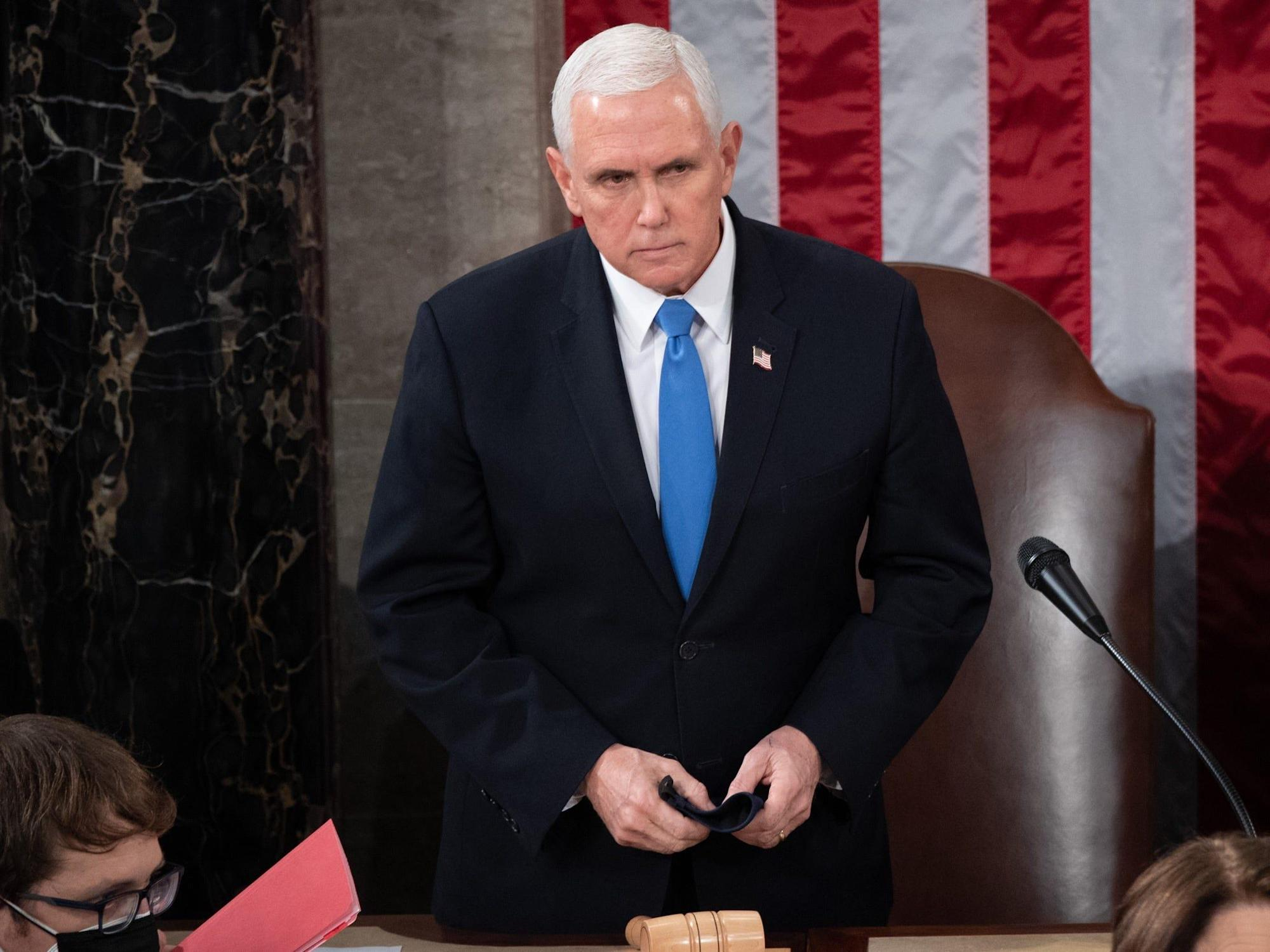 Pence refused to leave the Capitol during the January 6 riot despite Secret Service agents urging him to evacuate, saying, 'I'm not getting in the car': book