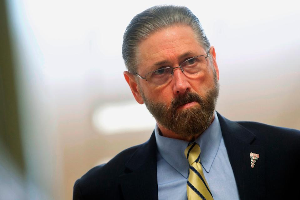 Judge Steven O'Neill on April 26, 2018, at the Montgomery County Courthouse in Norristown, Pa.