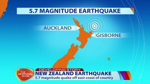 5.7 magnitude earthquake hits New Zealand People off the east coast of the country say they felt the tremor.