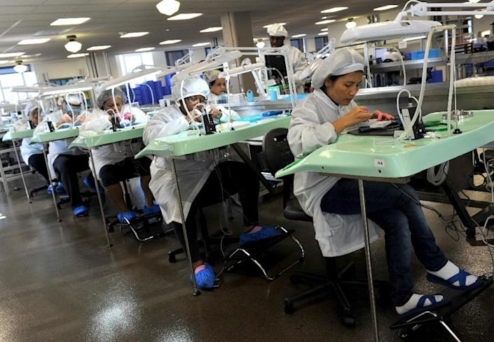 US factory orders rebounded in March after seven straight months of declines, pushed higher by commercial and defense aircraft orders, the Commerce Department reports (AFP Photo/Mira Oberman)
