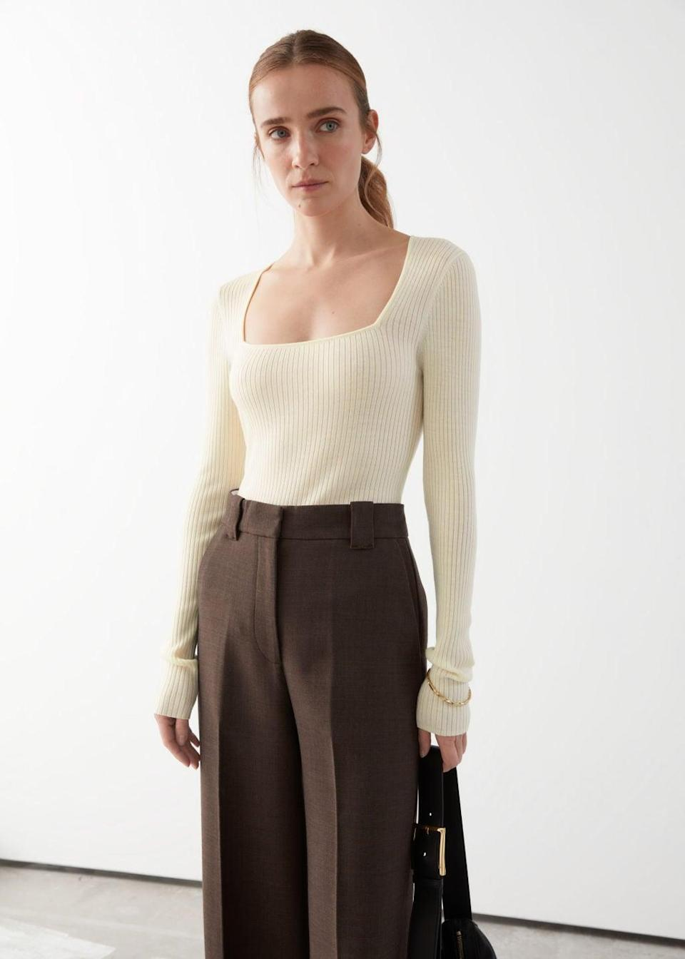 <p>Everyone needs a <span>Fitted Rib Top</span> ($89) in their closet.</p>