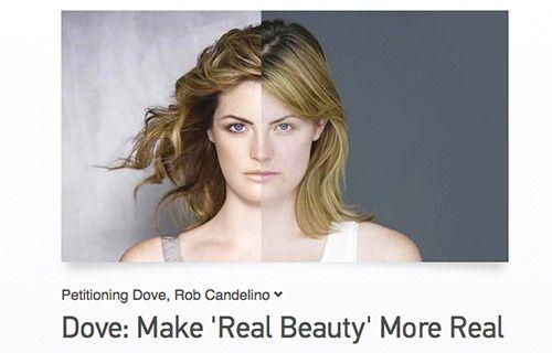 An American dad wants to know if Dove uses Photoshop. <i>Credit: Change.org</i>