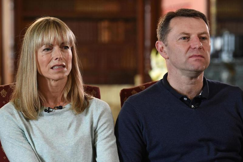 Kate and Gerry McCann whose daughter Madeleine disappeared from a holiday flat in Portugal ten years ago (PA)