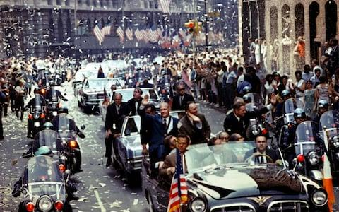 Ticker tape welcome for Apollo 11 astronauts in New York - Credit: NASA/Reuters