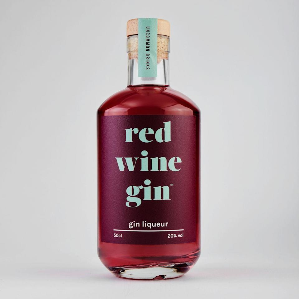 """<p>Red wine and gin, together at last where """"rich berry aromas meet moreish juniper flavours.""""</p><p><strong>£19.99, Firebox </strong></p><p><a class=""""link rapid-noclick-resp"""" href=""""https://go.redirectingat.com?id=127X1599956&url=https%3A%2F%2Fwww.firebox.com%2FRed-Wine-Gin-Liqueur%2Fp9366&sref=https%3A%2F%2Fwww.delish.com%2Fuk%2Fcocktails-drinks%2Fg29069585%2Fflavoured-gin%2F"""" rel=""""nofollow noopener"""" target=""""_blank"""" data-ylk=""""slk:BUY NOW"""">BUY NOW</a></p>"""