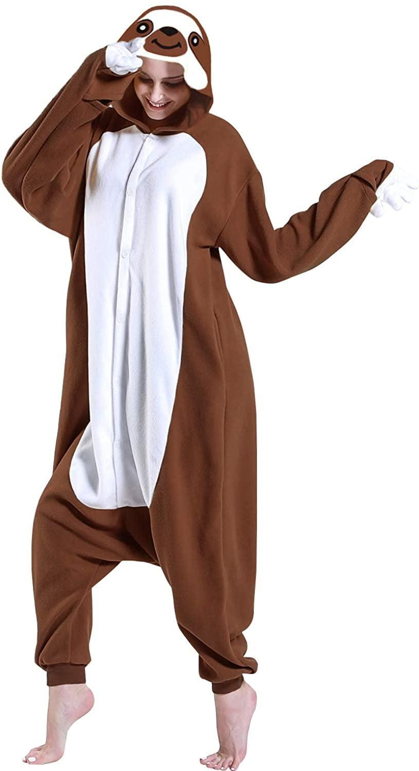 <p>Be your favorite lazy friend with this <span> Sloth Adult Jumpsuit Costume</span> ($22). </p>